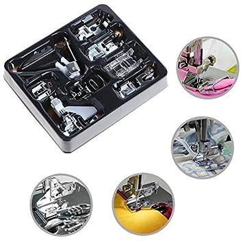 Westsell 8Pcs/set multifunción prensatelas para máquina de coser piezas prensatelas pies doméstico ganchillo accesorios de costura: Amazon.es: Hogar