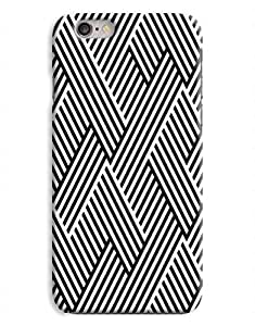 Black and White Weave iPhone 6 Case