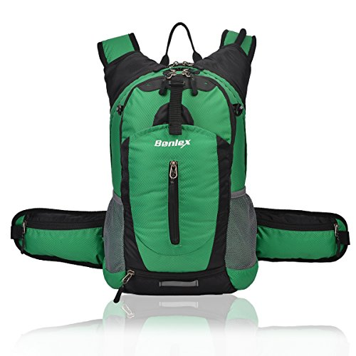 BONLEX Cycling Hydration Pack Biking Backpack 20L Multi-Function Riding Backpack with Insulation Compartment,3L Water Bladder Available,Lightweight Daypack Hiking Backpack (Green)