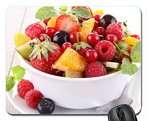 Delicious Fruit Salad Strawberry Raspberry BlackBerry Personalized Rectangle Mouse Pad, Printed Non Slip Rubber Comfortable Customized Computer Mouse Pad Mouse Mat Mousepad