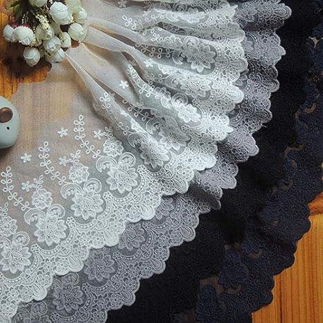 3 yardlot width 44cm 17.32 ivorybeige mesh embroidery lace trim fabric for dress skirt 1025327L4K288 free ship