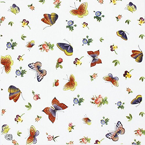 Alink Tea Party Paper Napkins, Printed Butterfly, 20 Count 13