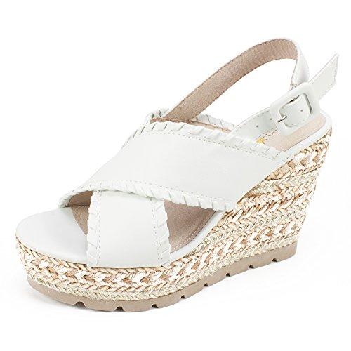 Rubber White Dial - SEVEN DIALS Shoes Alessandra Women's Sandal, White/Nubuck, 6H M