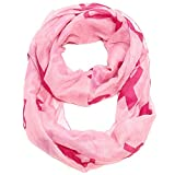 Falari Women's Pink Ribbon Breast Cancer Symbol Infinity Scarf IF0035-P
