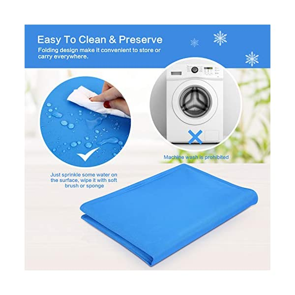 Pecute Dog Cooling Mat Medium 65x50cm, Durable Pet Cool Mat Non-Toxic Gel Self Cooling Pad, Great for Dogs Cats in Hot Summer 5