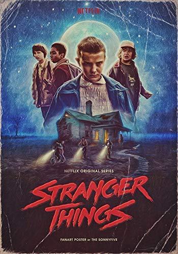 Stranger Things Film Movie Póster De Pared Metal Retro Placa ...
