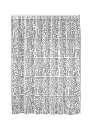 Heritage Lace Rabbit Hollow Panel, 60 by 63-Inch, White (Lace Tree)