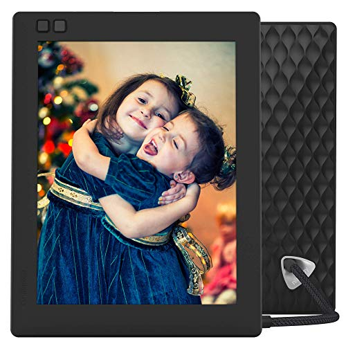 NIXPLAY Seed Digital Photo Frame WiFi 8 inch W08D, Black. Show Photos on Your Frame via Mobile App or Email. Display HD Pictures and Videos. Electronic Smart Picture Frame with Motion Sensor from nixplay