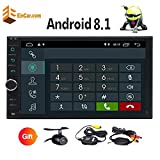 Free Wireless Backup Camera!!! Android 8.1 Oreo System 7 Inch Touchscreen Headunit with Multi Colorful Button Lights Support GPS Navigation/Handsfree Bluetooth/Mirror Link/OBD/USB/SD