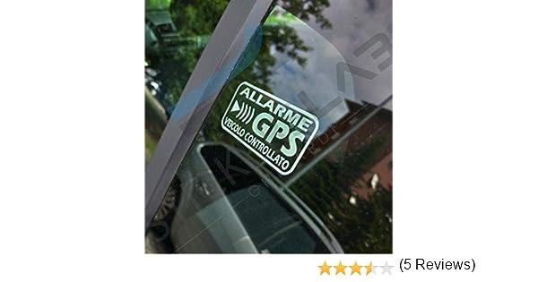 stickerslab – Adhesivos de Alarma GPS antirrobo por Satélite para Evitar EL Robo Auto Moto Camión, Caravana (cantidad – 8 Unidades (6 x 3 cm))