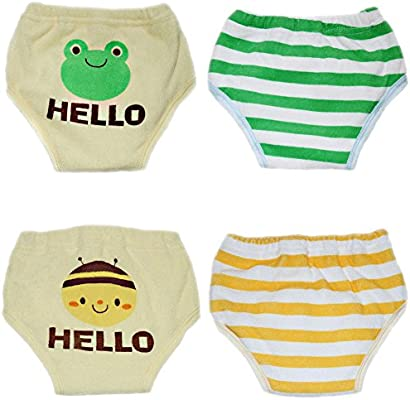 October Elf Unisex Baby 3 Layers Toddler Potty Training Pants Reusable Pack of 3
