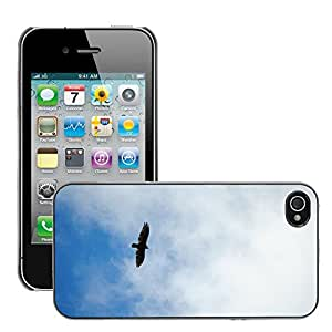 Hot Style Cell Phone PC Hard Case Cover // M00131097 Soar Bird Sky Blue Sky Calm Outside // Apple iPhone 4 4S 4G
