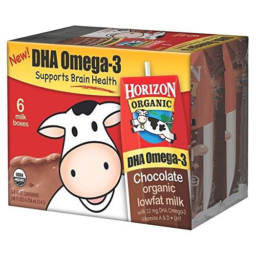 HORIZON MILK ORGANIC CHOCOLATE LOWFAT DHA OMEGA-3 8 OZ 6 CT