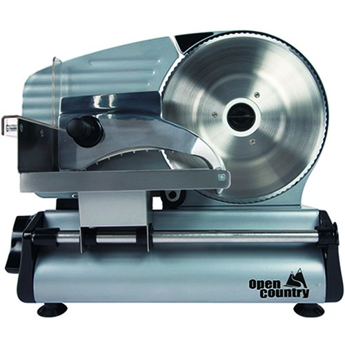 Open Country FS-250SK 180W Food Slicer, 8 , Silver