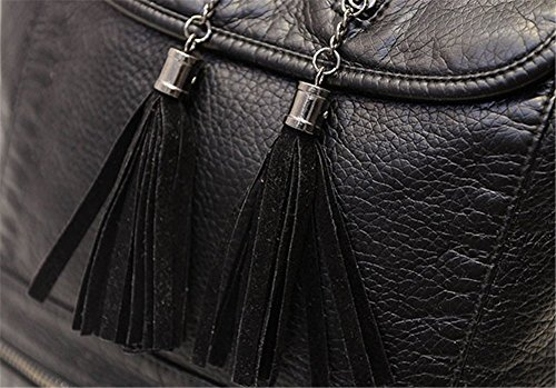 tellw–comercial de viaje de ocio Mini mochila bolsa, mujer, negro, 26cm*13cm*35cm negro