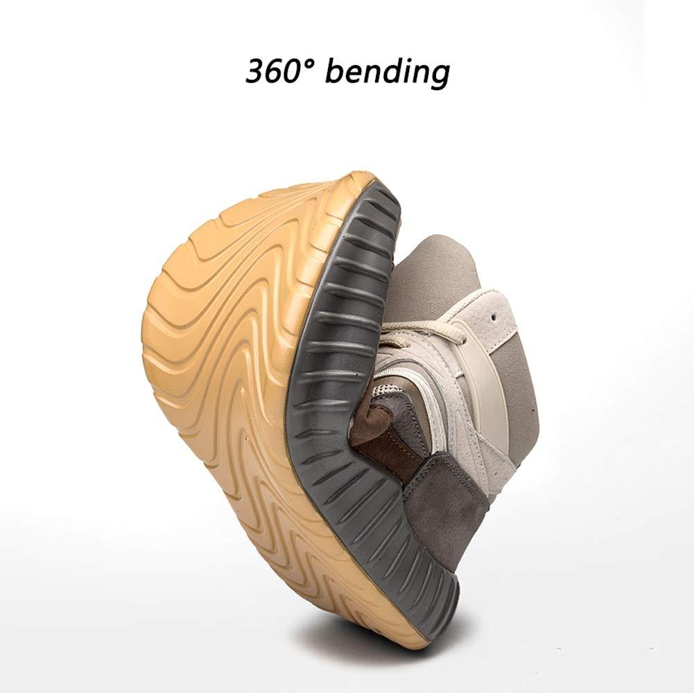 YSZDM Basketball-Schuhe, strapazierfähige, Rutschfeste High-Top-Turnschuhe Dämpfung Dämpfung Dämpfung atmungsaktive Herren Outdoor-Stiefel,Beige,41 ca8b67