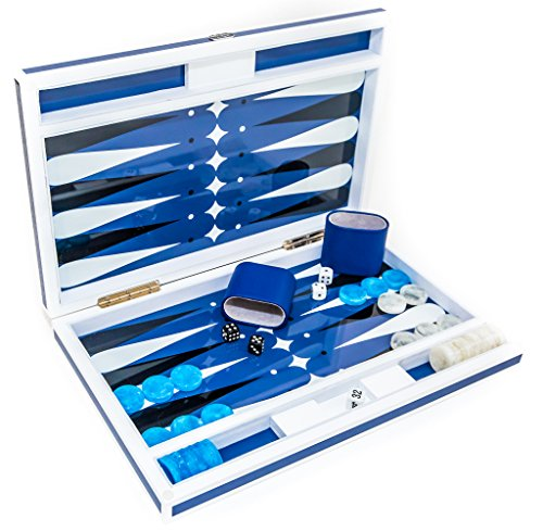 Studio 54 New York Deluxe Lacquered Backgammon Set 18