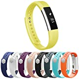 Vancle Fitbit Alta Bands, Newest Adjustable Replacement Bands for Fitbit Alta/ Fitbit Alta band/ Fitbit Alta Bands (with Metal Clasp,No Tracker)(Yellow,Small)