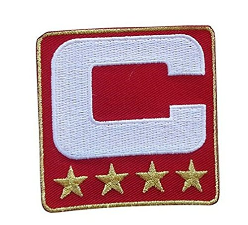 Red Captain C Patch Iron On for Jersey Football, Baseball, Hockey 10pcs A Lot