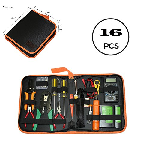 Roy Network Maintenance Repair Tools Kit, Test Pencil, Cable Tester, Electric Soldering Iron Included - Misc Cable Kit
