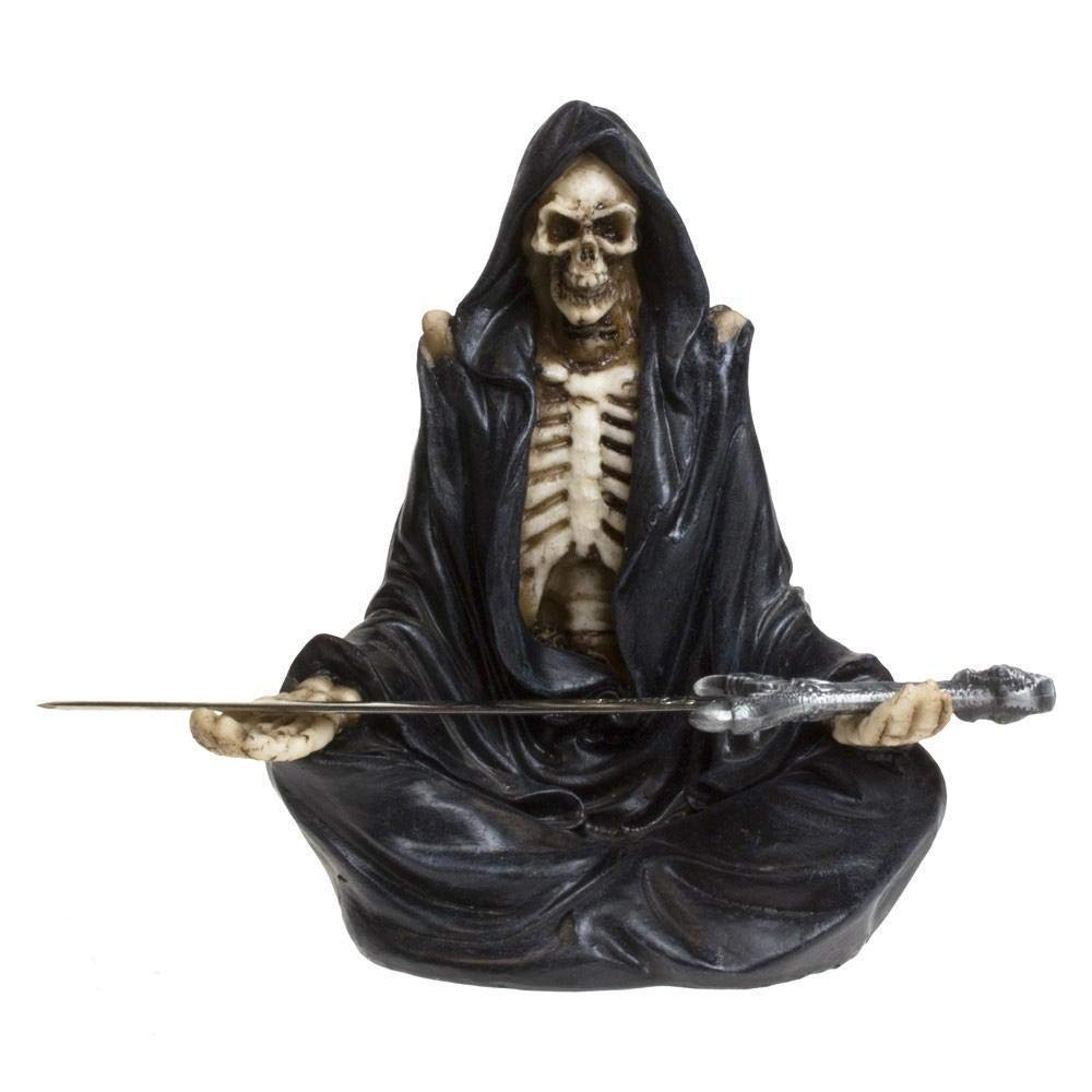 Hunky Dory Gifts Letter Opener Grim Reaper With Sword Gothic Skeleton Figurine Eternal Servitude