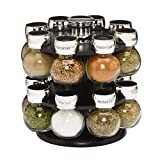 Kamenstein Ellington 16-Jar Revolving Spice Rack with Free Spice Refills for 5 Years by Kamenstein