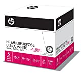 HP Paper, Multipurpose Ultra White Poly Wrap, 20lb, 8.5x11, Letter, 96 Bright, 2500 Sheets / 5 Ream Case (212500C), Made In The USA
