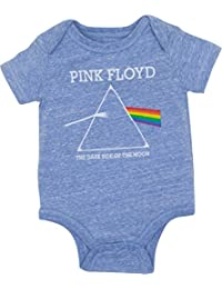 Newborn Baby Boys' Bodysuit - The Dark Side Of The Moon, Heather Blue