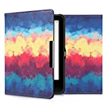 kwmobile Case for Tolino Vision 1/2 / 3/4 HD - Book Style PU Leather Protective e-Reader Cover Folio Case - dark blue yellow red
