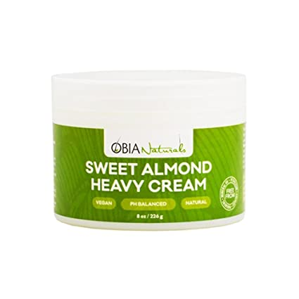 Obia Naturals Sweet Almond Heavy Cream, 8 Oz. by Obia Naturals