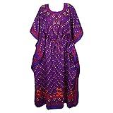 Mogul Womens Ella Maxi Caftan Kaftan Cruise Cover Up Dress One Size