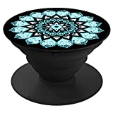 PopStand - Expanding Stand and Pop Socket Grip for Smartphones and Tablets (Peace Mandala Sky)