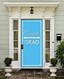 Victory Corps Class Banner Light Blue - Outdoor GRADUATION Garage Door Banner Mural Sign Décor 36'' x 80'' One Size Fits All Front Door Car Garage -The Original Holiday Front Door Banner Decor