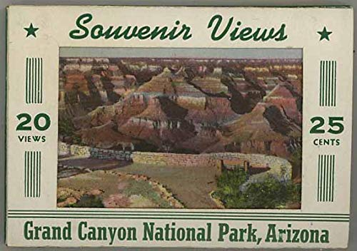 Grand Canyon National Park - Miniature Souvenir Linen Postcard Mailing Packet - 1937