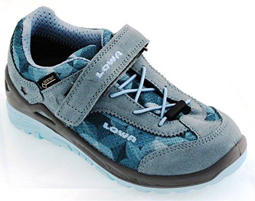 Lowa - Zapatillas de senderismo de Material Sintético para niño Blau (eisblau/hellblau)