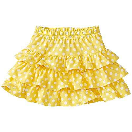 Hanna Andersson Little Girl Three Tiers Scooter Skirt, Size 120 (6-7), Warm Sun