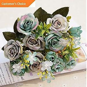 Hebel 1 Bouquet 15 Heads European Style Artificial Royal Rose Flowers Home Decor Cal | Model ARTFCL - 228 | 26