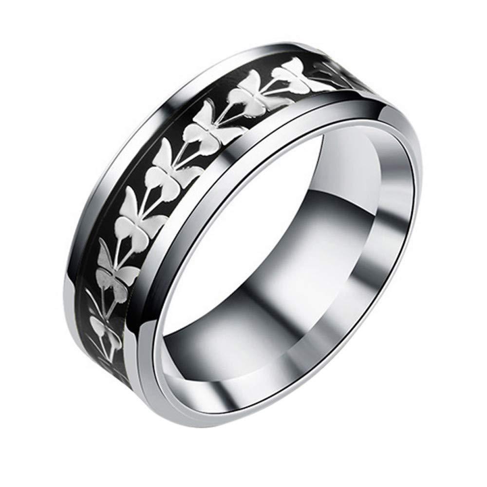 Uscharm Women Rings Bohemian Vintage Silver Rings Boho Butterfly Rings Finger Rings Golden (BK7)
