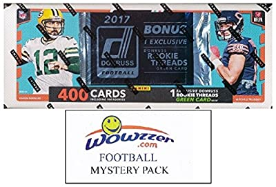 2017 Donruss NFL Football MASSIVE 401 Card Complete Factory Set with 101 ROOKIE Cards including EXCLUSIVE Rookie Threads Jersey! Plus Bonus WOWZZER Mystery Pack with AUTOGRAPH or MEMORABILIA Card!