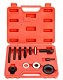 8MILELAKE Automotive Pulley Puller Remover Installer Power Steering Pump Alternator Pulley
