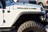 The Pixel Hut gs00195 Matt Black Molon Labe Come and Take Hood Decals for Jeep Wrangler JK (2007-2018)