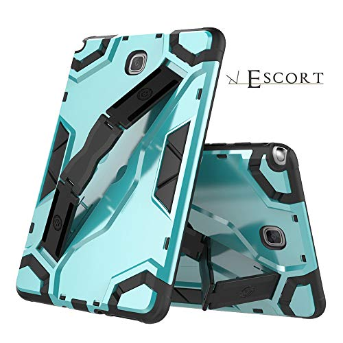 Translucent Blue Silicone Skin Case - YRD TECH 8 Inch Heavy Stand Tablet Case with Strap Compatible Samsung Galaxy Tab A 8.0 SM-T350 (Blue)