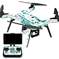 MightySkins Protective Vinyl Skin Decal for 3DR Solo Drone Quadcopter wrap cover sticker skins Teal Splatter
