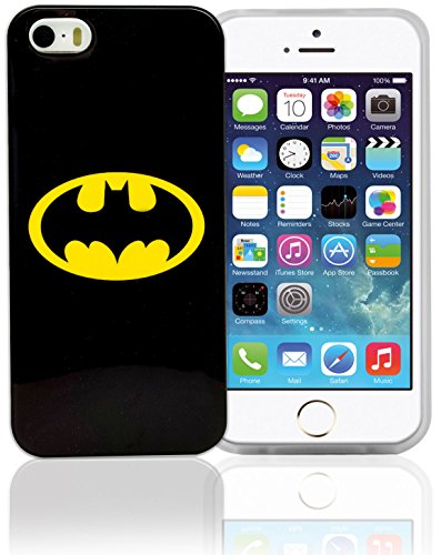 Phonix DC Comics original Batman Logo Case mit Displayschutzfolie für Apple iPhone 5/5S