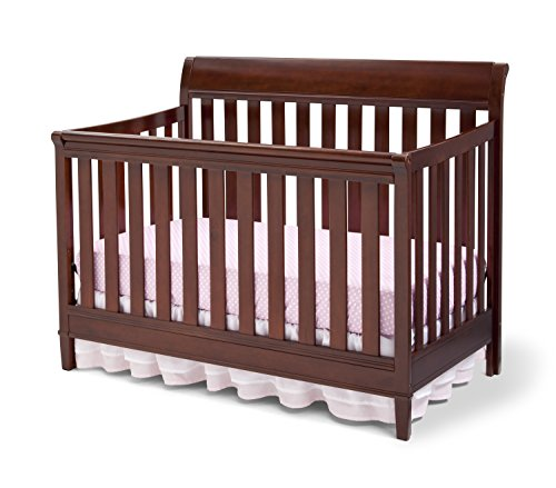 Grow Sleigh Crib (Delta Children Haven 4-in-1 Convertible Crib, Black Cherry Espresso)