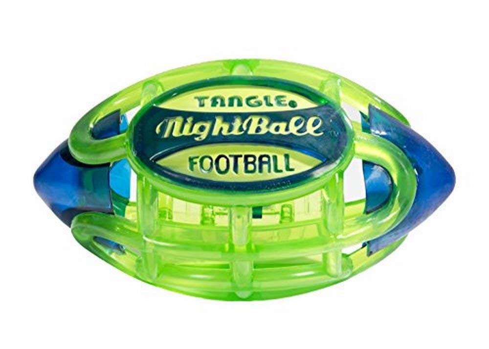 Tangle NightBall Glow in the Dark Light Up LED Football, Green with Blue by TANGLE