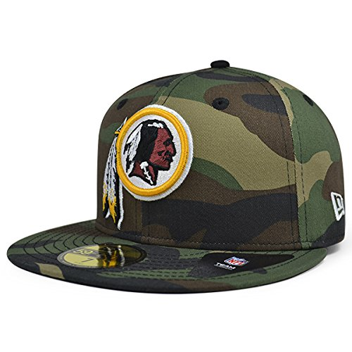 7ea19a921 Washington Redskins New Era NFL Woodland Camo 59Fifty Fitted Hat