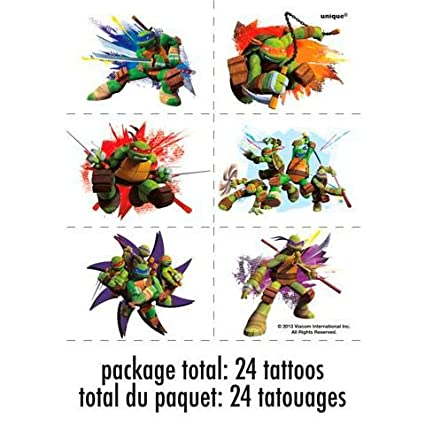 Unique Industries Ninja Turtles Tattoo Sheets (4 Sheets)