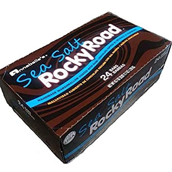 Annabelles Rocky Road Dark Chocolate w/Sea Salt Candy Bar, 1.8-Ounce Bars