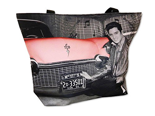 Elvis Presley Large Canvas Tote Bag (Black)